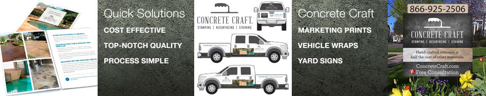 Concrete Craft Marketing Products